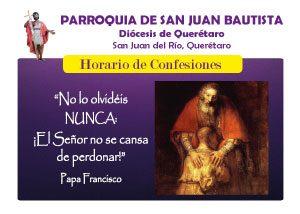 Horario de confesiones