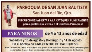 Inscripciones Catequesis 2016-2017