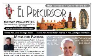 Hoja parroquial Enero-Febrero 2017